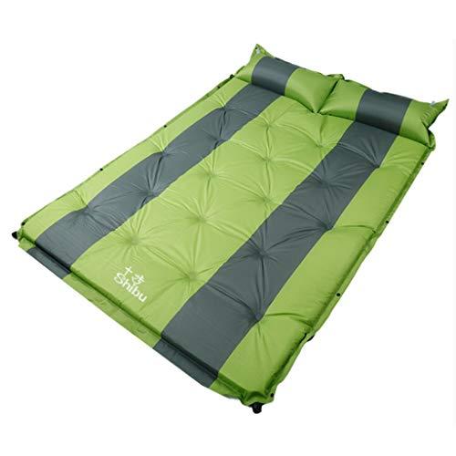 XMGJ Selbstaufblasbare Matratzen Air Bed-Auto Luftmatratze Auto SUV Hinten Auto Luftbett Reisebett Auto Auto Bett Erwachsene Schlafmatte Schlafsäcke, Matratzen & Kissen (Farbe : Green)