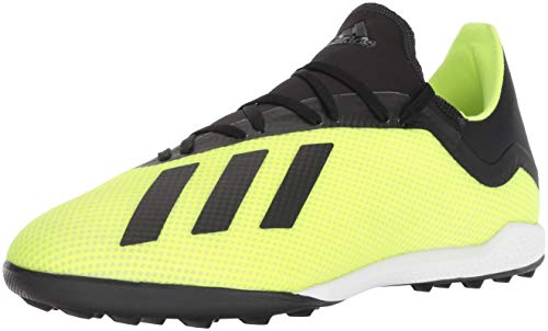 adidas Men's X Tango 18.3 Turf Soccer Shoe, Solar Yellow/Black/White, 6.5 M US