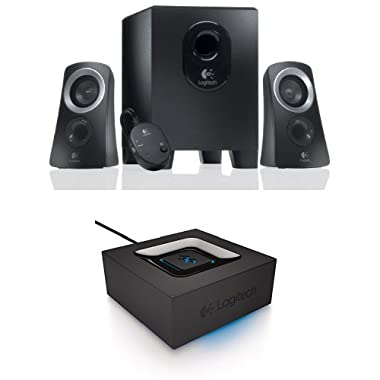Logitech Z313 Speaker System + Logitech Bluetooth Audio Adapter Bundle