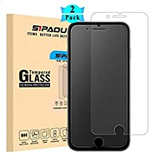 iPhone 7 8 Plus Matte Screen Protector, [2-Pack] SIPAOU 9H Hardness Matte Tempered Glass Screen Film [Case Friendly] [Good Light Transmission] for iPhone 7 8 Plus (for iPhone 7 Plus/8 Plus (5.5 inch))