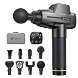 Massage Gun Deep Tissue Muscle Massager, Vigorun Percussion Massager with 20 Speed Levels 8 Massage Heads, Powerful Handheld Massage Gun for Athletes, Muscle Pain Relief in Gym Office Home