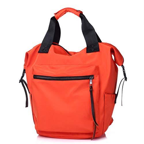 Hjku Casual Nylon wasserdicht Rucksack Frauen hohe kapazität reisebuch Taschen für Teenager Studenten rosa Schultasche, oranger
