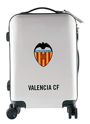 Valencia Club de Fútbol Maleta Equipaje de Mano - Producto Oficial del Equipo, Rígida y con Sistema de Cierre de Seguridad TSA