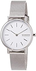Case Thickness: 6 mm; Case Size: 30 mm; Band Width: 14 mm; Band Circumference: 175+/- 5 mm Band Material: Stainless Steel; Water Resistant: 3 ATM; Movement: Two Hand Packed ina Skagen Gift Box
