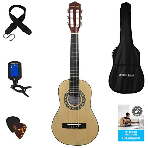 LEFT HANDED Acoustic Guitar Package 1/4 Sized (31' inch) Age 3 to 6...