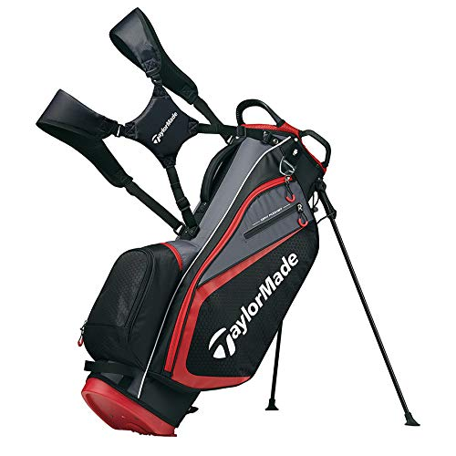 TaylorMade 2019 Golf Select Stand Bag, Black/Red