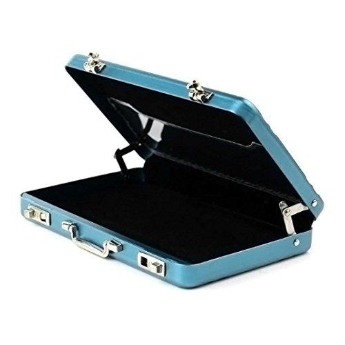 Malloom tarjetero Tarjeta de crédito portatarjetas nuevo metal Mini Maletín Maleta Business Bank (azul)