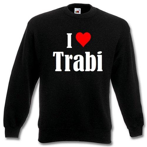 Reifen-Markt Sweatshirt I Love Trabi Größe M Farbe Schwarz Druck Weiss