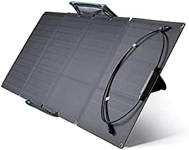 EF ECOFLOW 110 Watt Portable Solar Panel for Power Station, Foldable Solar Charger with Adjustable Kickstand, Waterproof IP67 for Outdoor Camping RV Off Grid System