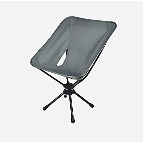 Yuan Yuan Moon Chair - Freizeit Camping Angeln Stuhl ohne Becherhalter Stahlrahmen Folding Padded Portable Braun, grau (Farbe   B)