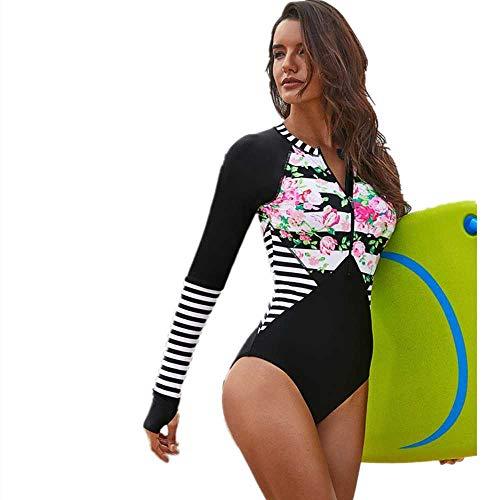Nuevo Traje de baño de una Pieza para Surf Traje de Snorkel de Medusa de Manga Larga para Mujeres y Europeas, Traje de baño de triángulo de impresión