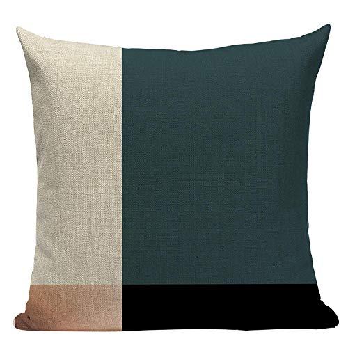 Geométrica Negra Azul Almohada Oro Tirar Cubiertas de Almohada 45 cm x 45 cm Sofá Cuadrado Cama 3D Cubierta DE ALIMENTACIÓN-GRAMO_6pc