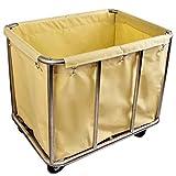 ZAQI Wäschekorb sortierer wäschesortierer Roll Wäschekorb Sorter Cart mit abnehmbaren Taschen & Rädern, for Hotel/Gewerbe/Industrie/Home/Salon, Last 150kg