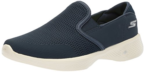 Skechers Damen Go Walk 4 - Attuned Slip On Sneaker, Blau (Navy), 41 EU