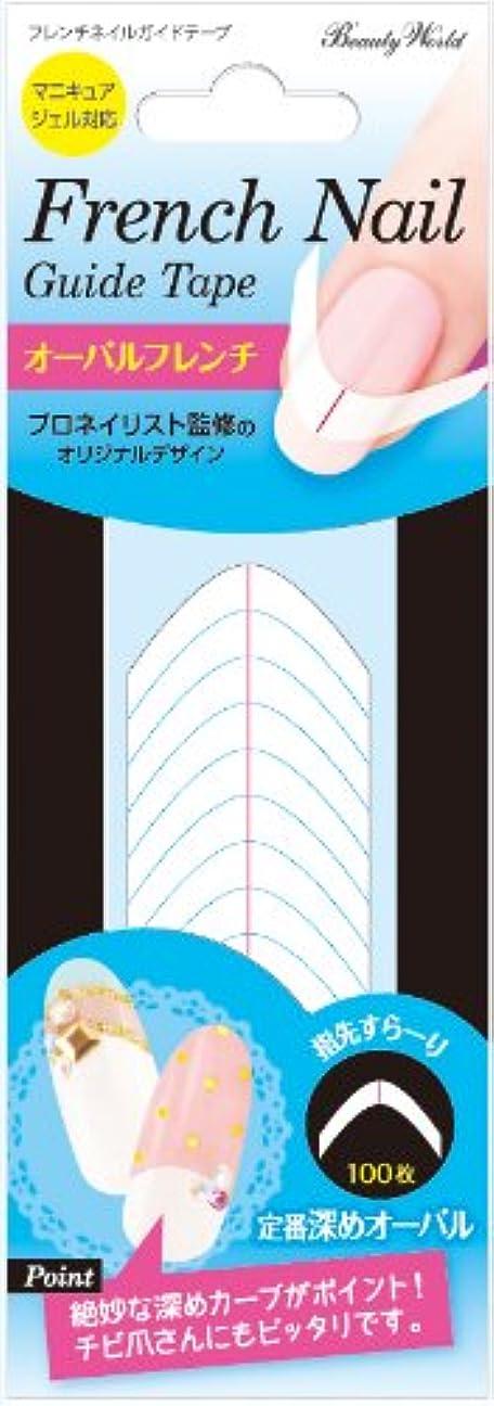 スキャンダラスモールマントラッキートレンディ フレンチネイルガイドテープ オーバルフレンチ