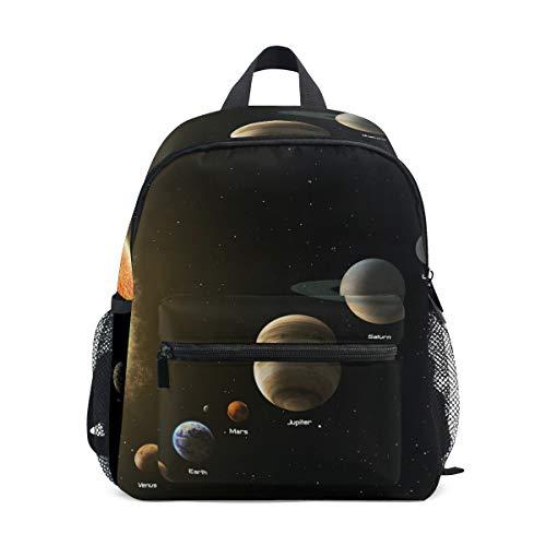 Mochila pequeña para la escuela, planetas espaciales, Júpiter Saturno, mochila para niñas y niños, mini mochila de viaje, primaria, preescolar, estudiante