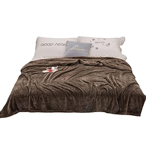 RUMUI Waffle Textured Fleece Throw Blanket for Sofa Soft Plush Velvet Flannel Blanket for Living Room Lightweight Microfiber Throw Blanket for All Seasons
