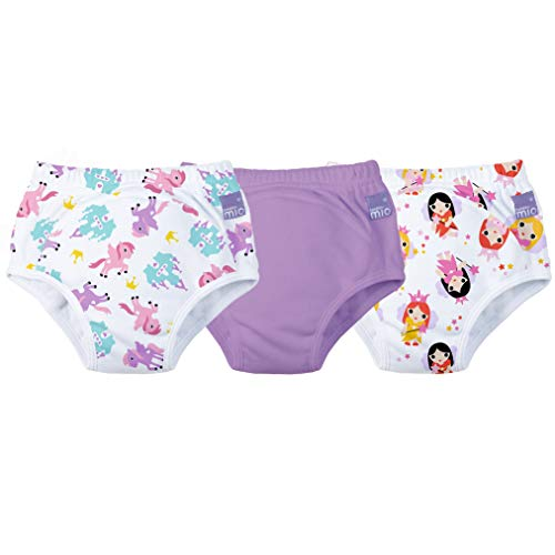Bambino Mio 3 Piece Potty Training Pants, Mixed Girl Lilac, 3+ Years