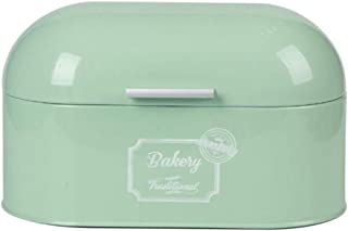 YYBF Caja de Pan de Metal Panera Panera Contenedor de Cocina para el Pan con Tapa 34x19.5x18cm,Verde