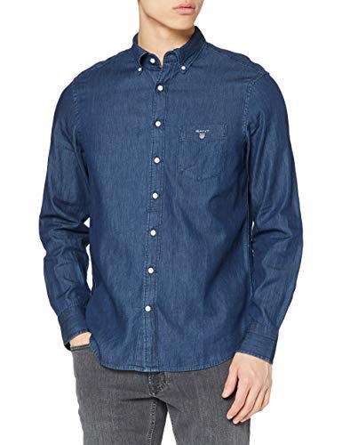 GANT Herren The REG BD Freizeithemd, Blau (Dark Indigo 989), X-Large (Herstellergröße: XL)