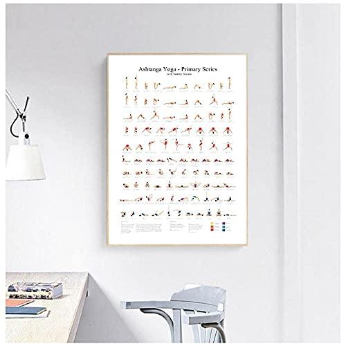 Dipinto Su Tela E Decorazione Della Camera Familiareserie Primaria Yoga Poster Stampe Su Tela Stampe D'Arte Per La Stanza Dello Yoga Decorazione Per Pareti Per Ragazze Regali Per Il Fitness Palestra
