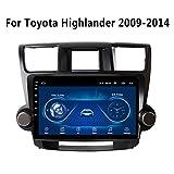 GPS-Navigationssystem, 10,1 Zoll Android 8.1 Auto DVD-Player Stereo-Radio GPS-Navigation für Toyota Highlander 2009-2014 Auto Multimedia Player,Wifi 1g+16g