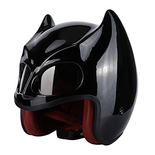 3/4 Casco de motocicleta de cara abierta Aprobado por el DOT Equipo de protección para la cabeza Personalidad Moda Cascos para adultos para patinaje sobre ruedas multideportivo Ciclismo - Resistenci