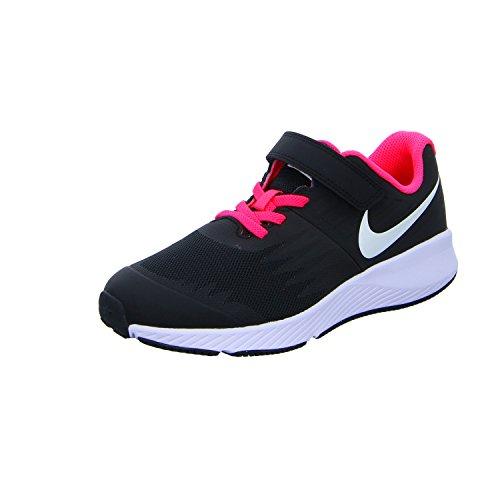 Nike Mädchen Star Runner (PSV) Traillaufschuhe, schwarzWeiß Volt Racer Pink 001, 34 EU