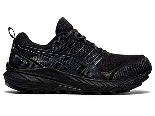 ASICS Women's Gel-Trabuco 9 Trail Running Shoes, 5.5M, Black/Carrier Grey