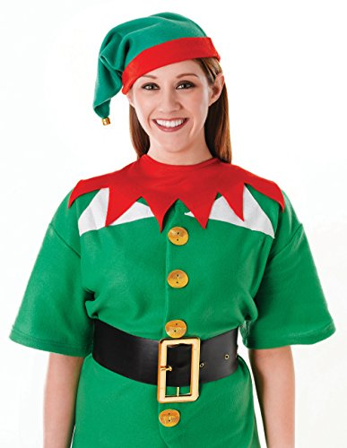 Santa's Little Helper/Elf Hat & Collar for Christmas Fancy Dress Outfit Kit Set