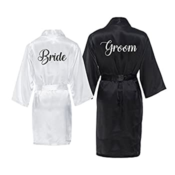 Best bride and groom silk robes Reviews