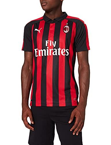 PUMA AC Milan Temporada 2020/21-HOME Shirt Replica SS with Sponsor Logo Camiseta Primera Equipación, Unisex, Negro (Tango)/ Rojo, S