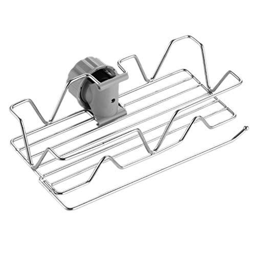 gszfsm001 - Grifo de acero inoxidable, soporte de almacenamiento, esponja para vajilla, tela con acabado de manguera de drenaje, secado para cocina, cuarto de baño, herramientas