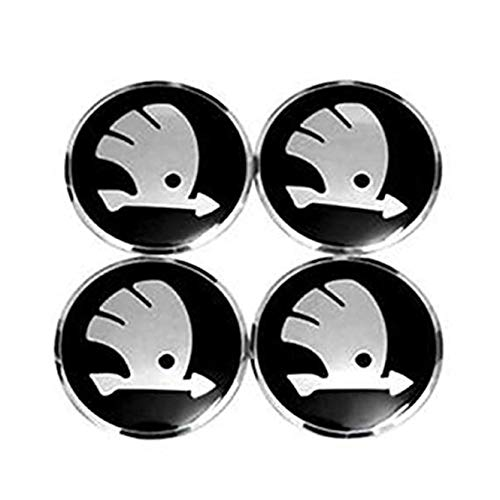 fanlinxin Aufkleber für Radnaben, 56,5 mm, Skoda Logo, 4 Stück