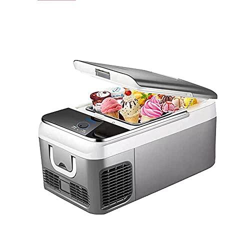 XiYou Refrigerador de Coche, refrigerador de congelador portátil de 18L de 12/24 voltios, congelador para refrigeración de Almacenamiento de Leche Materna, construcción rotomoldeada
