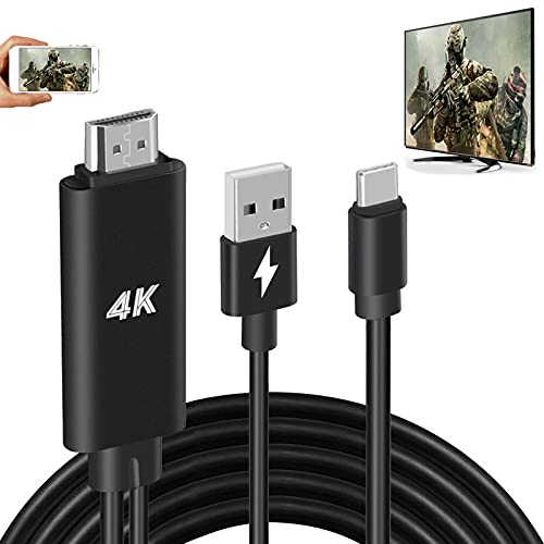 HDMI Adapter USB Type C Cable MHL 4K HD Video Digital Converter Cord for Samsung Galaxy S21 S20 S10 Note 20 LG G8 G5 Android Phone iPad Pro iMac MacBook Dell Mirroring Charging to Monitor Projector TV