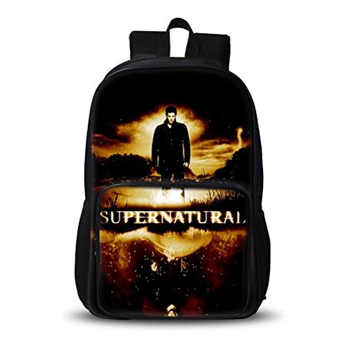 Supernatural Popular Styles Backpack Sports Outdoor Daypack Lightweight Portable School Bag Suitable for School Boys and Girls Portable School Travel Bag Kids (Color : A07, Size : 48 X 32 X 19cm)