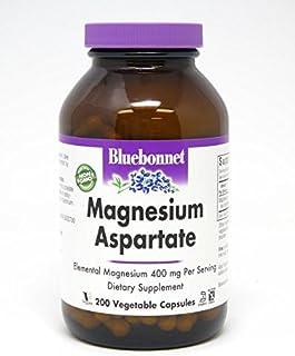 Bluebonnet Nutrition Magnesium Aspartate 400 mg, 200 Vegetarian Capsules