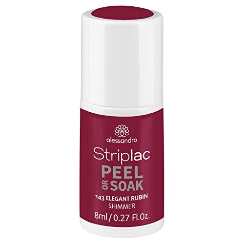 alessandro Striplac Peel or Soak Elegant Rubin - LED-Nagellack in dunklem Rot-Pink mit Shimmer - Für perfekte Nägel in 15 Minuten, 8 ml