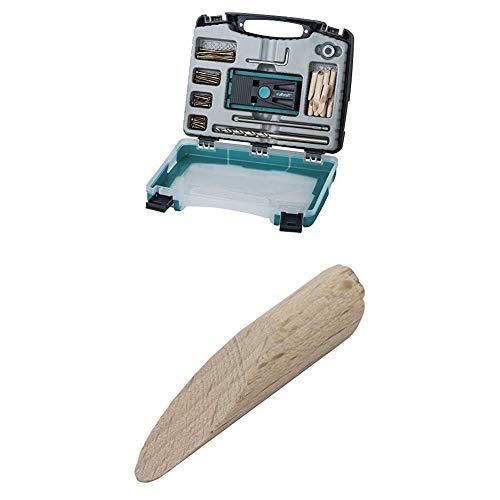 wolfcraft Undercover Jig-Set 4642000   Zuverlässige Bohrhilfe mit Schrauben für Holzverbindungen & das Bohren von Taschenlöchern + 12 Spezial-Holzdübel für Undercover Jig