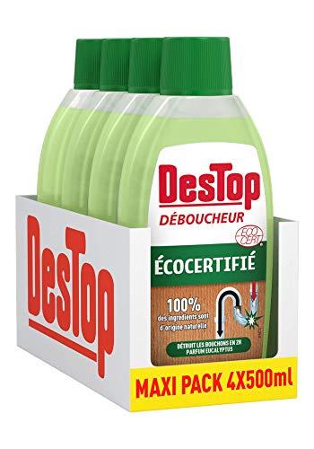 Destop - Desatascador ecológico (4 x 500 ml)