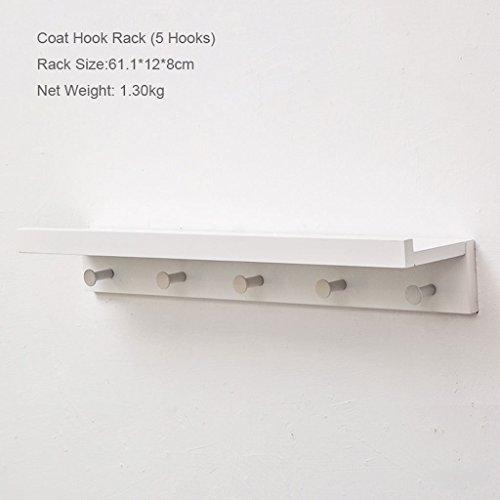 TB-Storage Racks Wandgemonteerde kapstok Houten kapstok met 2~5 haken voor slaapkamer, keuken, badkamer en woondecoratie