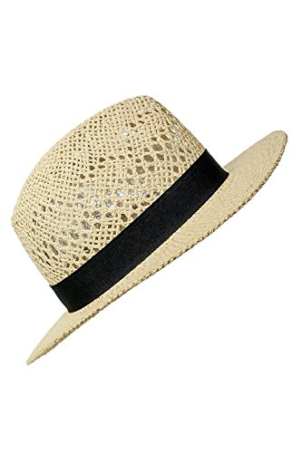 ONLY Damen Strohhut Panama-Hut Sonnenhut Sonnenschutz (One Size, Cloud Dancer)