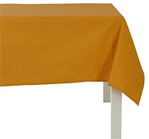 Cotton & Color TCB1231726 tafelkleed, katoen modern 140 x 260 x 1 cm geel