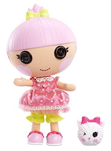 Lalaloopsy Littles Doll Trinket Sparkles con Gatito-Muñeca Princesa de 18cm con Vestido Rosa y Zapatos Removibles-Caja Reutilizable como casa-Edad 3-103 años, Multicolor (577188C3)