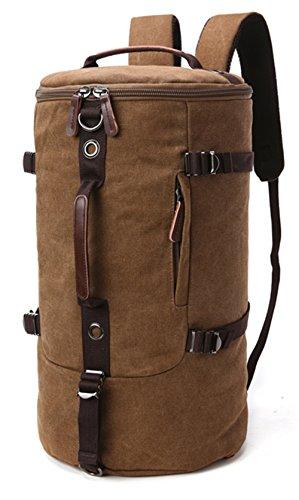 WOMJIA WOMJIA Reisetsache Sporttasche Weekender Tasche Handgepäck aus Canvas Segeltuch Vintage 40 Liter