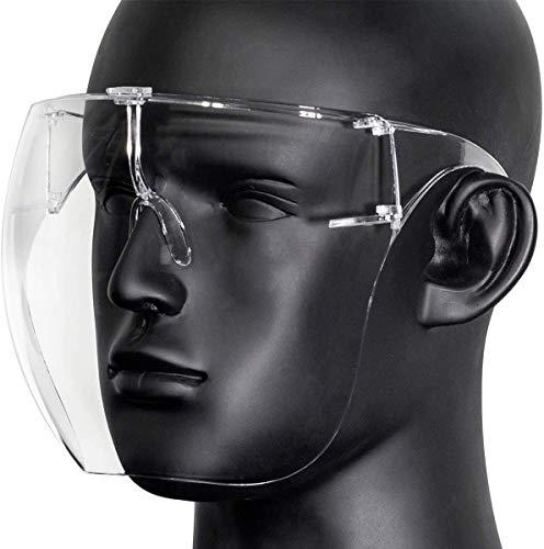 Juego de 2 Piezas de mascarillaMáscara Protectora con Gafas, Máscara Transparente, Puede Evitar Salpicaduras, Humo aceitoso, Llevar Lentes antivaho para Las Actividades diarias y el Trabajo. ✅