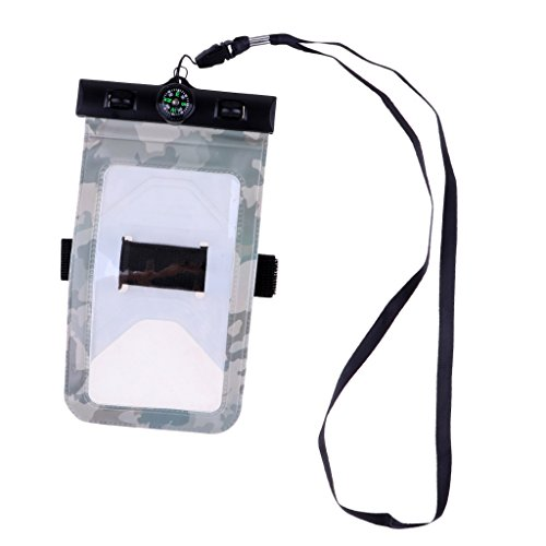 lahomia Funda Impermeable para Teléfono Móvil con Bolsa Seca para Teléfono Subacuático para iPhone Samsung - Celadon