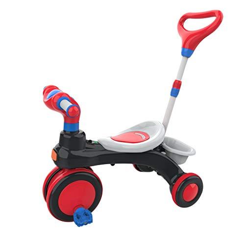 Dreiräder Dreirad Kinderdreiräder Baby Dreirad Kinderwagen Dreirad Ab 1-6 Jahre 3 In 1 Kombikinderwagen Dreirad Ab 3 Jahren Umweltschutz Stahl Rot