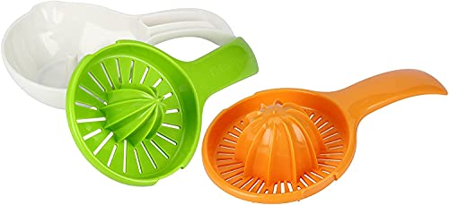 Urban Trend Tango Citrus Juicer with Two Juicing Heads, Lemons, Limes, Oranges and Grapefruit, Ergonomic Handle, and Non-Slip Base